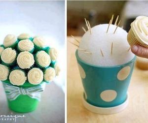 cupcake, diy, and flowers image