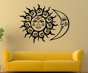 crescent moon, home decor, and wall art image