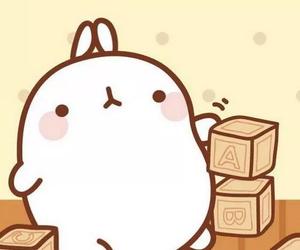 kawaii, korean, and rabbit image