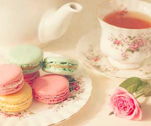 rose, sweet, and tea image