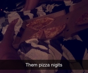 best friends, chill, and pizza image