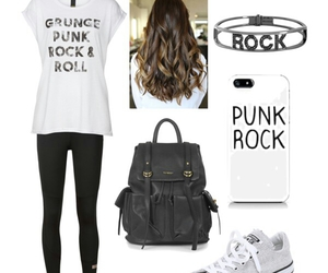 black, outfits, and Polyvore image