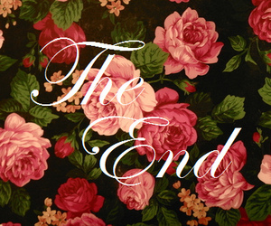 rose, the end, and flowers image