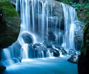 waterfall and blue image