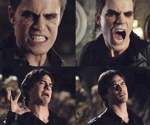 demon, stefan, and the vampire diaries image