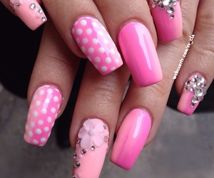 beauty, fashion, and pink nails image