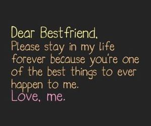 best friends, quote, and forever image
