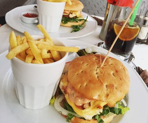 burger, calories, and french image