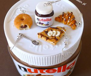 earrings, food, and nutella image