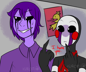 puppet, vincent, and fnaf image