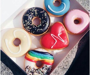 colors, donuts, and food image