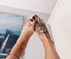 nails, unghie, and tatuaggio image
