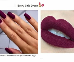 lips, nails, and Dream image