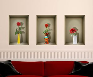 decal, 3d illusion, and roses image