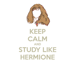 hermione, study, and harry potter image