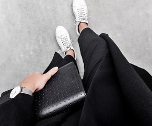 bag, beautiful, and black jeans image