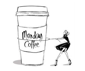 art, coffee, and monday image