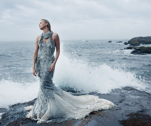 Charlize Theron, ocean, and mermaid image