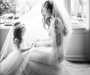dress, wedding, and daughter image
