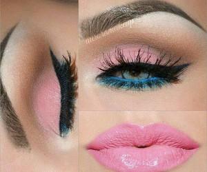 makeup, make-up, and pink image