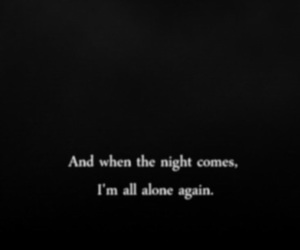 alone, night, and quote image