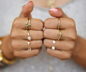 rings, fashion, and nails image
