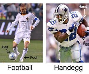 football, lol, and handegg image