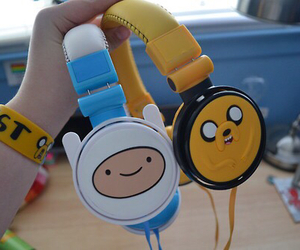 adventure time, headphones, and JAKe image