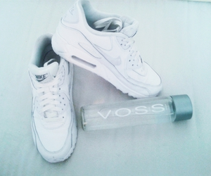 nike, water, and white image