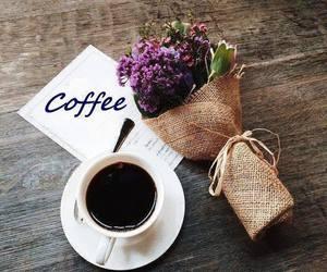 flowers, wakeup, and coffee image