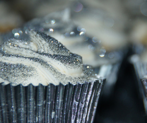 cupcake, glitter, and silver image