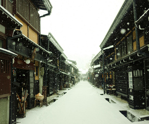 snow, japan, and photography image