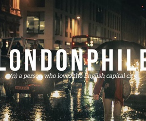 london, uk, and words image