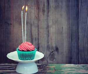 candle, cupcake, and pink image