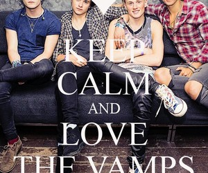 keep calm, boy band, and the vamps image