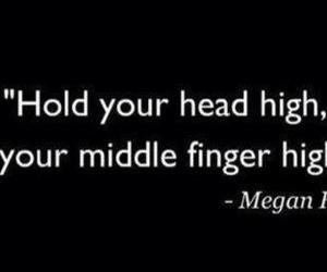 megan fox, quote, and middle finger image
