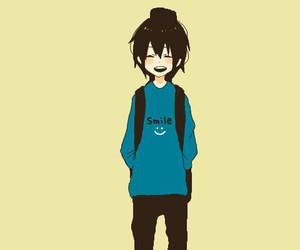 anime, smile, and boy image
