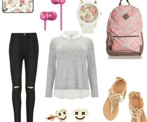 moda, backtoschool, and outfit image
