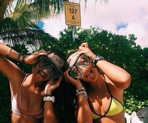 beach, photography, and bikinis image