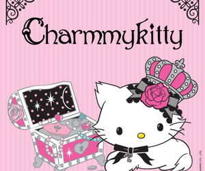 bow, charmmy kitty, and hello kitty image