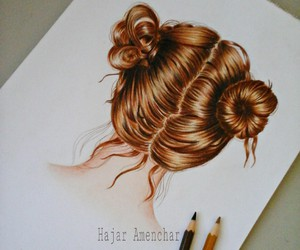 art, artist, and coloured pencils image