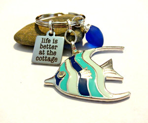 accessories, cobalt blue, and fish image
