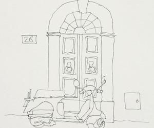 art, doorway, and rome image