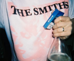 the smiths, grunge, and cigarette image