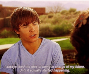 zac efron, gif, and quote image