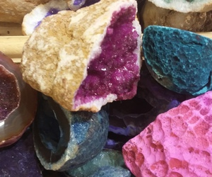 crystals, pink, and purple image