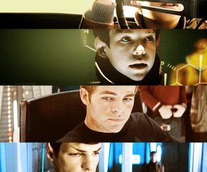 chris pine, spock, and star trek image