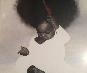 baby, Afro, and black image