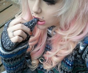 pink hair, pretty, and girl image
