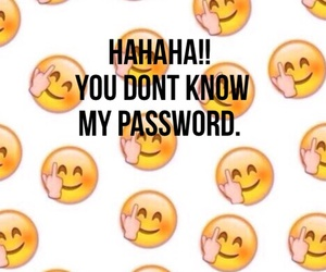 wallpaper, password, and emoji image